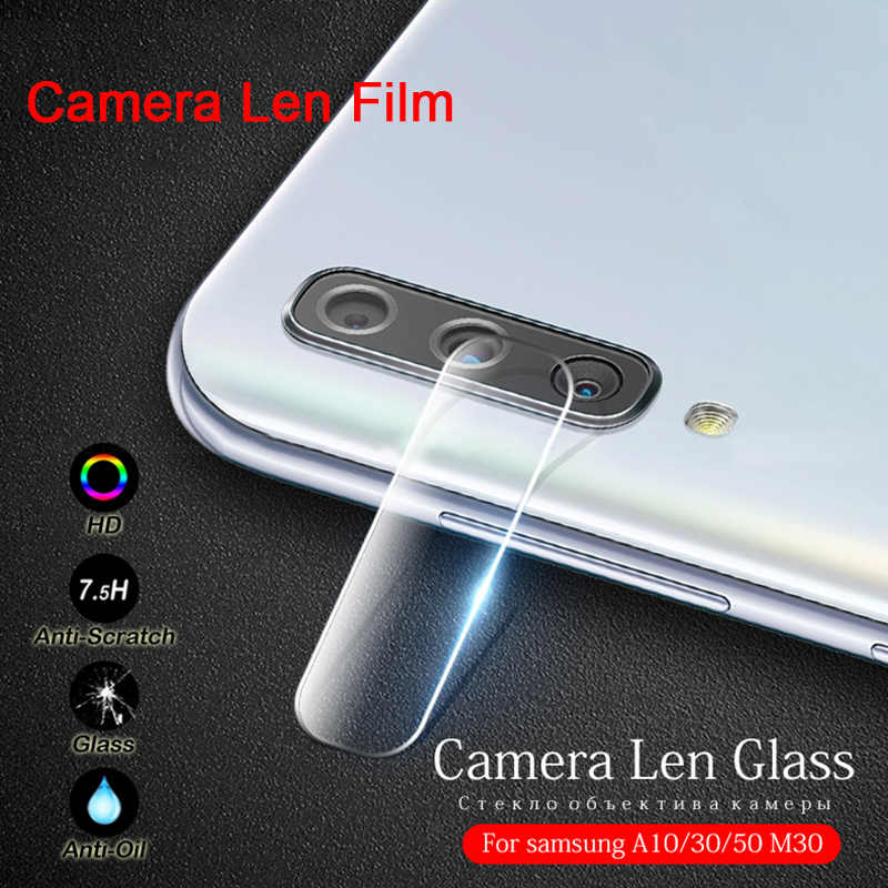 Transparent Protective Tempered Glass for Samsung A50 A70 A30 A20 Full Cover Camera Len Film for Galaxy J4 J6 Plus J7 J8 2018