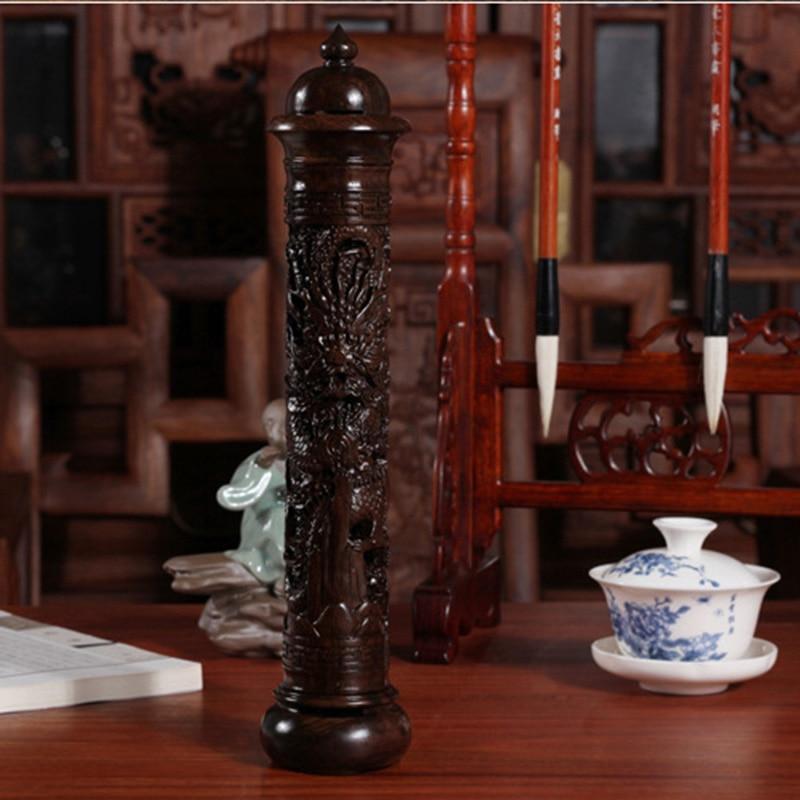 ПИННЫ Қара Ағаш Ағаш Айдаһар Мүсін - Үйдің декоры - фото 6