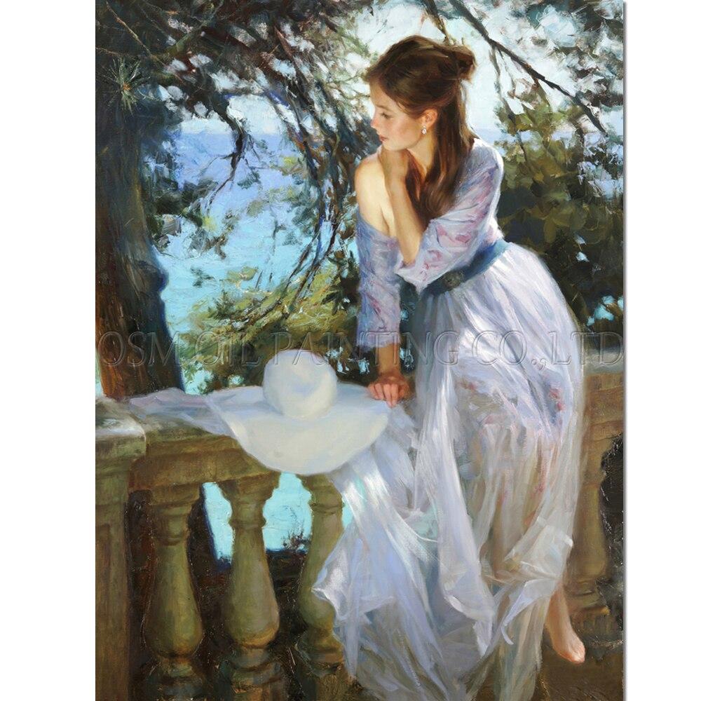 Old Art Handmade High Quality Impression Beautiful Lady Oil Oil for - Dekor za dom - Fotografija 1