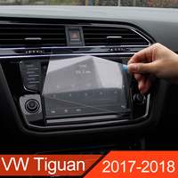 Car GPS Navigation Tempered Glass Screen Protector Steel Portective Film For Volkswagen VW Tiguan Mk2 2016