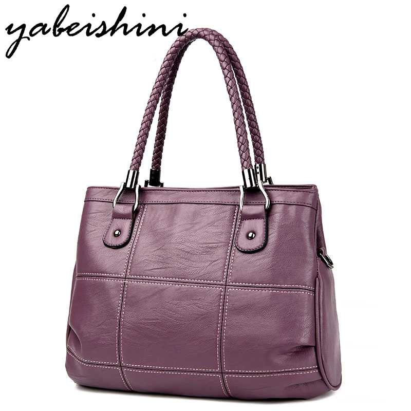 YABEISHINI Sac A Main Marque Bolsas Luxury Handbags Women Bags Designer PU Leather Shoulder Bag Ladies Casual Tote Handbags luxury handbags women bags designer brand famous scrub ladies shoulder bag velvet bag female 2017 sac a main tote