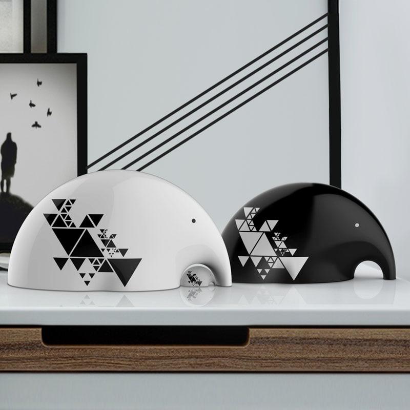 Minimalist White Ceramic Elephant Home Decor Crafts Room