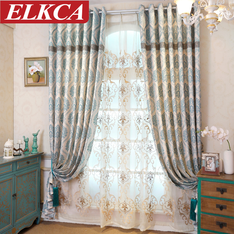2016 hot sale chinese curtains tulle jacquard fabric kitchen curtains for living room european. Black Bedroom Furniture Sets. Home Design Ideas