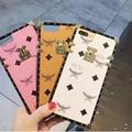 Корея Роскошный M Письмо Etui Телефон Case Для iPhone 7 7 Plus 6 6 S Плюс Мода Современный Дизайн Телефона Случаях