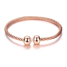 ROMAD Brand Bracelets & Bangles For Women Rose / Gold / White Gold Color Man Jewelry Twisted Rope Spherica Mother's Day7