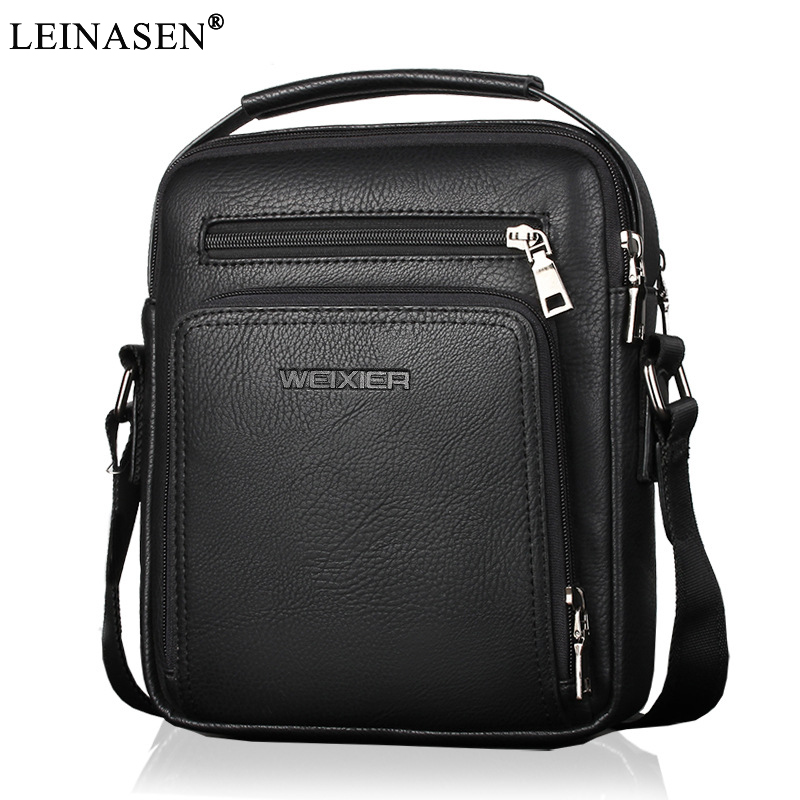 2018 New Fashion designer high quality PU leather men shoulder bag casual zipper office messenger bags for men Crossbody Bags high quality casual men bag