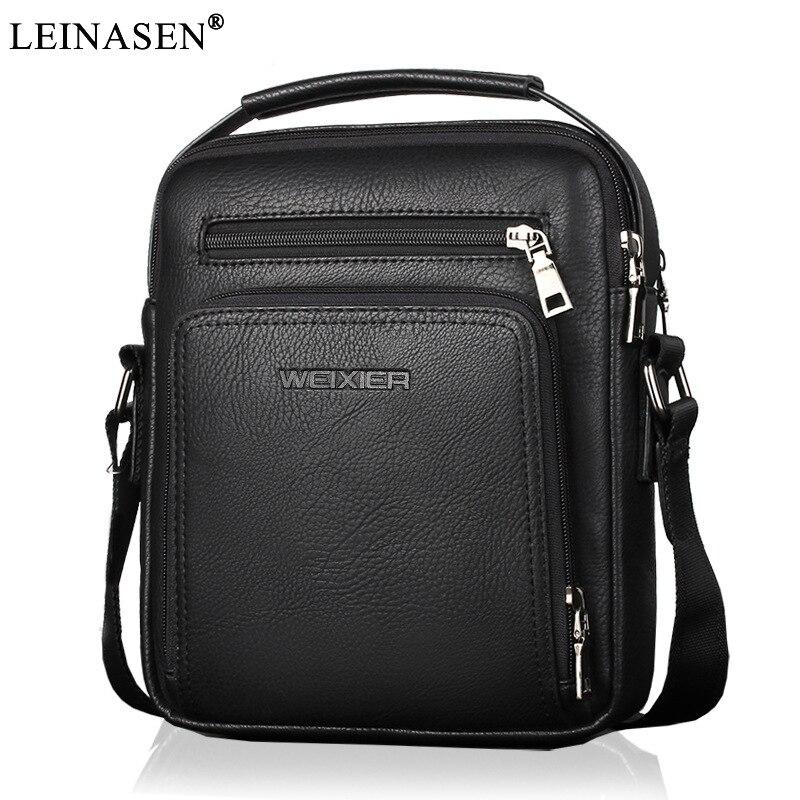 2018 New Fashion designer high quality PU leather men shoulder bag casual zipper office messenger bags for men Crossbody Bags