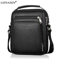 2018 New Fashion Designer High Quality PU Leather Men Shoulder Bag Casual Zipper Office Messenger Bags