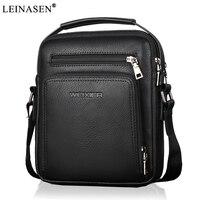 2018 New Fashion Designer High Quality PU Leather Men Shoulder Bag Casual Zipper Office Messenger Bags