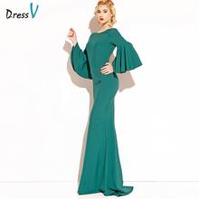 Dressv emerald green long evening dress