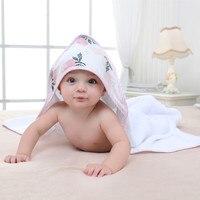 Rose niños toalla niño algodón Albornoz bebés niñas primavera animal Toalla de baño con capucha niños Toalla de la historieta toalla bebé Toalla de baño