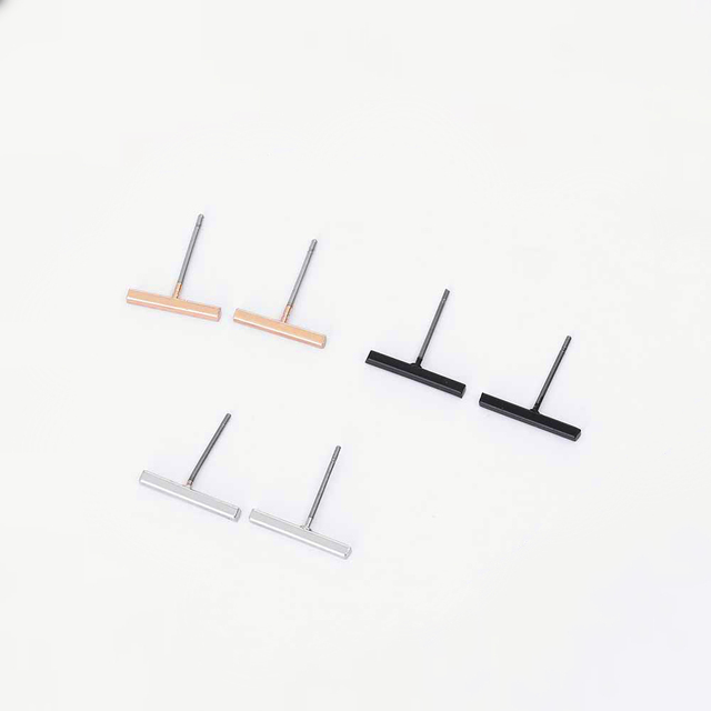 2018 Fashion Gold Silver Black Punk Simple T Bar Earrings For Women Ear Stud Earrings Exquisite.jpg 640x640 - 2018 Fashion Gold Silver Black Punk Simple T Bar Earrings For Women Ear Stud Earrings Exquisite Jewelry Geometry Brincos Bijoux