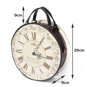 Image 4 - Vintage Round Clock Designer Bag Japan Lolita Style 3 Ways Shoulder Bag Lady Girls Alice Handbag Back pack