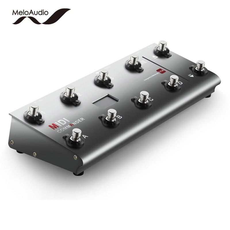 MeloAudio MIDI Commandant Guitare Plancher Multi-effets Portable USB Pied Contrôleur Commutateurs Au Pied