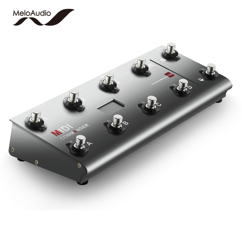 MeloAudio MIDI Commander Guitar Floor Multi-Effects Portable USB Foot Controller Foot Switches