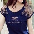 Mujeres de la camiseta poleras de mujer moda 2016 más el tamaño sexy camiseta camiseta femme vintage ropa de mujer moda camisetas y tops