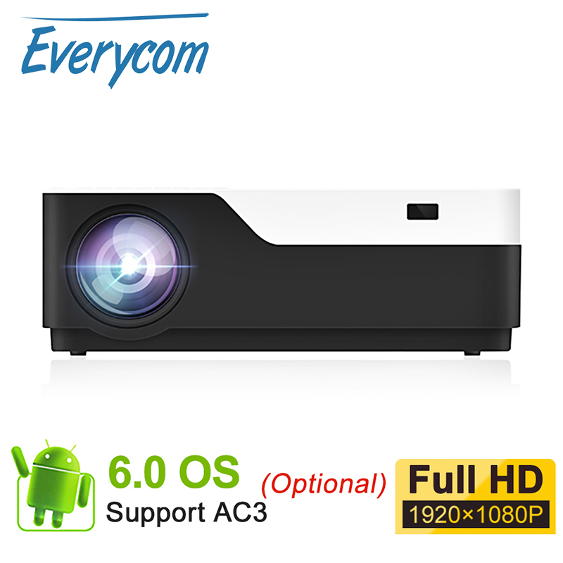 Everycom M18 Native 1920X1080 Real Full HD Projector Home Multimedia Video Game Projector Beamer Optional Android