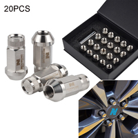 NICECNC 20PCS 1/2 20 T304 Stainless Steel Replacement Wheel Lug Nuts Rim Cover Tuner Dust Protective Cap For Trailer Wheel Rim