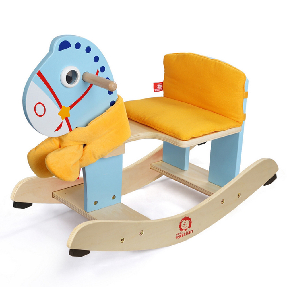 Child Wooden Rocking Chair Us 69 9 Shake The Trojan Is Easy To Assemble Child Rocking Horse The Baby Horse Solid Wood Rocking Horse Toy Rocking Chair In Ride On Cars From Toys