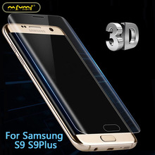 For Samsung S9 PLUS 3D curved Surface Hot-bending cover Plate full screen covered toughened Glass Film Factory