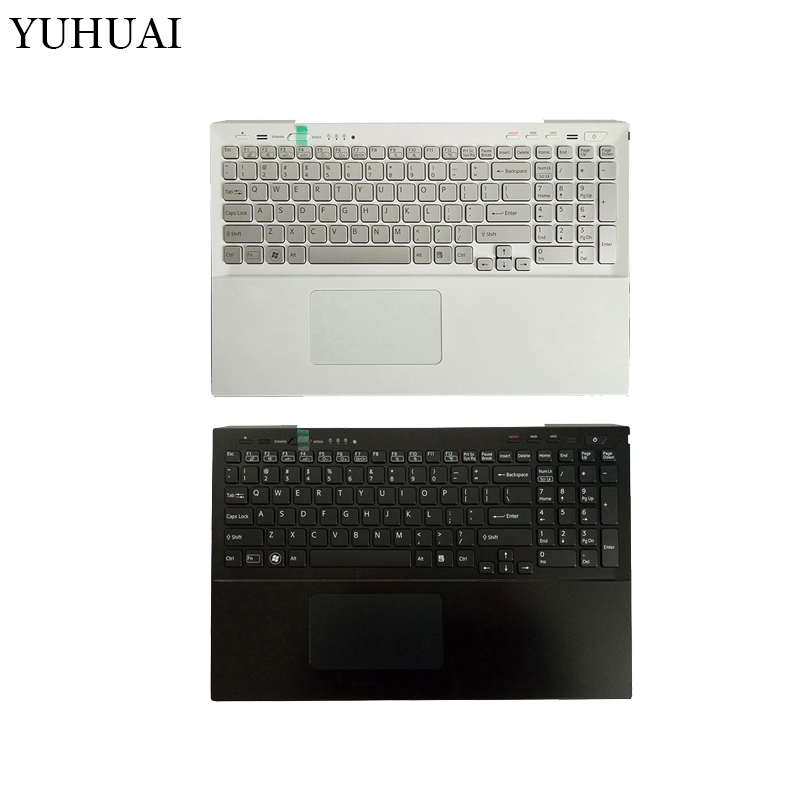 US laptop keyboard for Sony SVS15 SVS151100C SVS15118ECB SVS15118ECW Palmrest Upper cover 025-111A-2363 025-101A-2363 keyboard for sony vpceh35yc b vpceh35yc p vpceh35yc w laptop keyboard