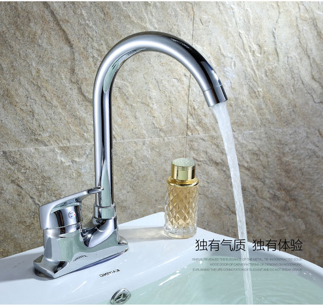 New Solid Brass Kitchen Mixer Cold and Hot Kitchen Tap double hole ...