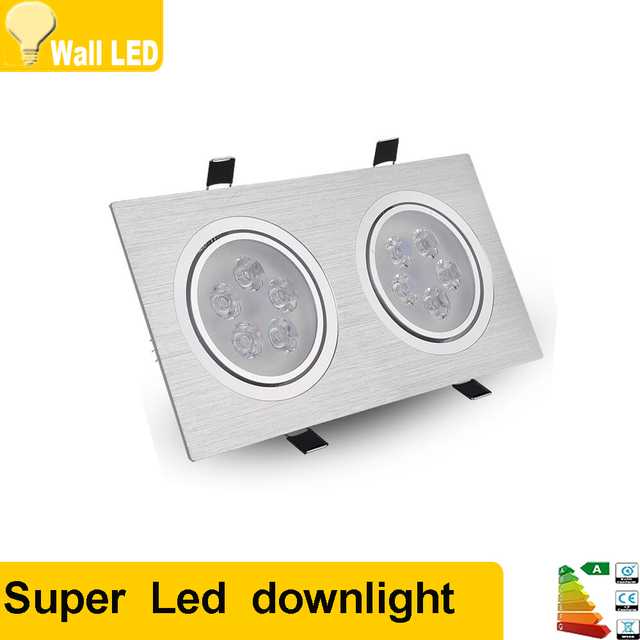 High power square double aluminum led dimmable recessed light lamp high power square double aluminum led dimmable recessed light lamp bulb ac110v 230v 7w 12w mozeypictures Images