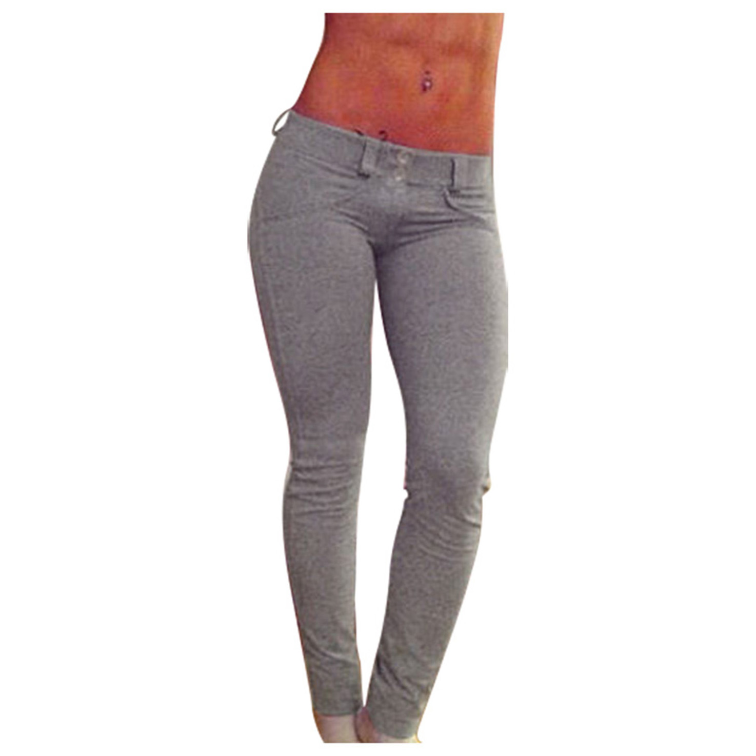 Hot Sexy Women Butt Lift Pants Colombian Brazilian Style Stretchy Skinny Pants Pencil Tight Trousers Khaki Grey Red Black