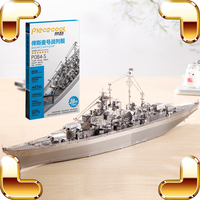 New Arrival Gift Bismarck Battleship 3D Model Metal Assemble DIY Game Toys Military Ship Collection IQ Educational Decoration