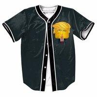 Bread Superman Doll Men Sport Baseball Jerseys New Hip Hop Streetwear US Size Buttons Homme 3D