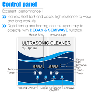 Image 3 - Granbo 4L 4.5L 180W Digital Ultrasonic Cleaner With DEGAS SEMIWAVE  Heating Cleaning Medical and Dental Clinic Hardware