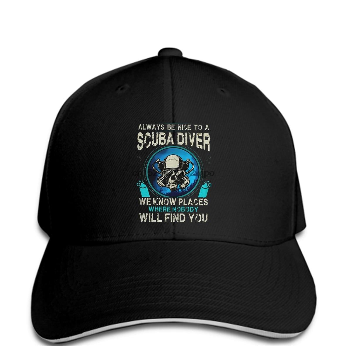 Funny Baseball Cap SCUBA DIVER Baseball Cap Cap Men