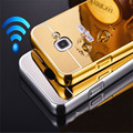 Luxury Metal Aluminum Frame + Mirror Acrylic Back Case For Samsung Galaxy A3 A5 A7 A310 A510 A710 2016 with Tempered glass P15