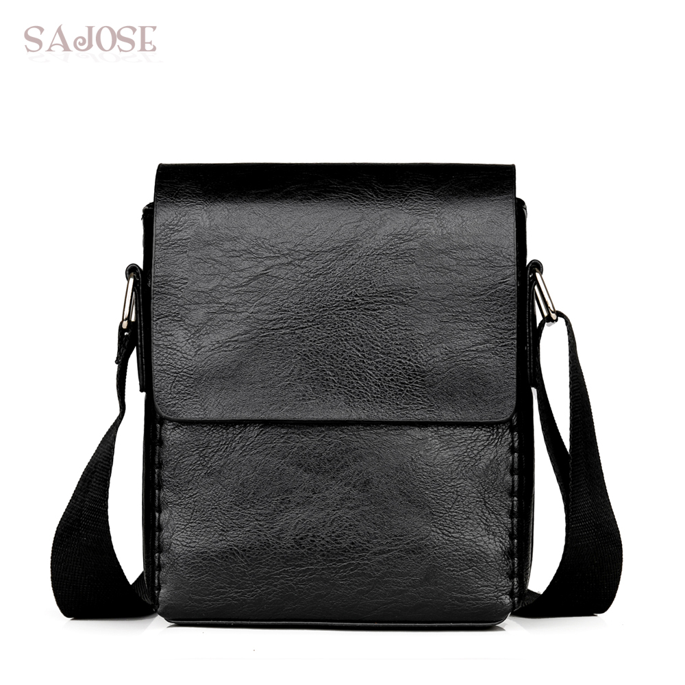 Crossbody Bags For Men Fashion PU Leather Shoulder Bag Casual Black Knitting High Quality Men's Hand Bag For Phone Drop Shipping