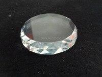 Бесплатная доставка 50 шт./лот cristal Стекло Грань круглый пресс папье с плоским лицом для лазерной гравировки