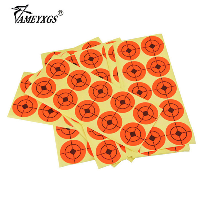 25pcs Archery 5cm Target Paper Shooting Practice Professional Sticker For Bow And Arrow Shot Game Hunting Accessories
