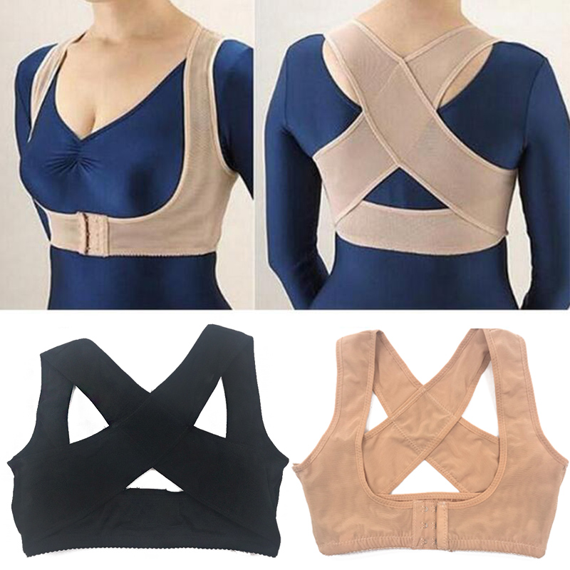 Posture Corrector Women Back Support Belt Orthotic Face Lift Tool 3