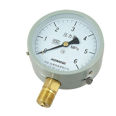 Y-100 M20x1.5mm Thread 0-6Mpa Display Pressure Gauge for Air WaterY-100 M20x1.5mm Thread 0-6Mpa Display Pressure Gauge for Air Water