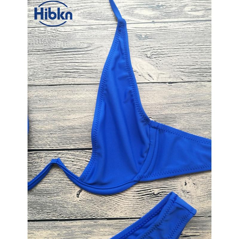 Bikini 2017 wysoka cut stringi stroje kąpielowe kobiety Brazylijski Biquini strój kąpielowy wysokiej talii strój kąpielowy Stałe pływać plaża micro bikini set 11