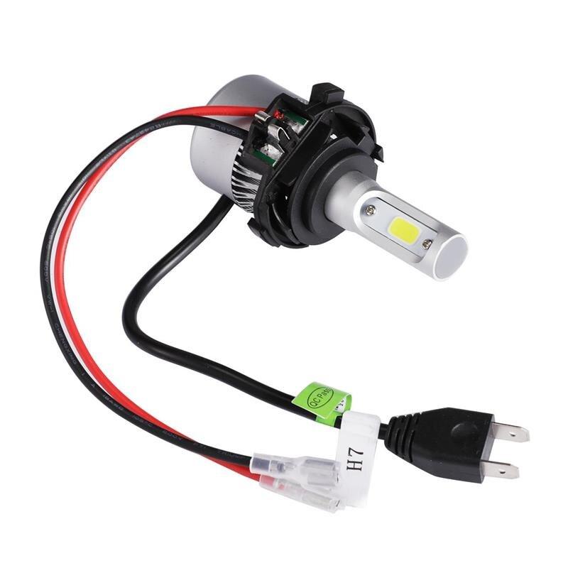 Auxmart H7 LED Bulb Headlight Adapter Base for VW Golf MK7 Car LED ...