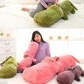 1 unidades de tamaño pequeño 50 cm muñeca hipopótamos almohada para dormir lindo super gran muñeco de peluche de juguete muñeca de trapo regalo de cumpleaños del niño del bebé