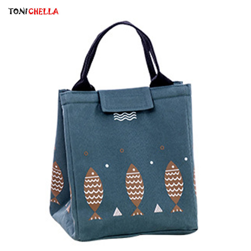 Toddler Milk Feeding Bottle Insulation Bag Fish Pattern Meal Tote Food Container Children Snacks Storage Mummy Bags Bolsa T0652