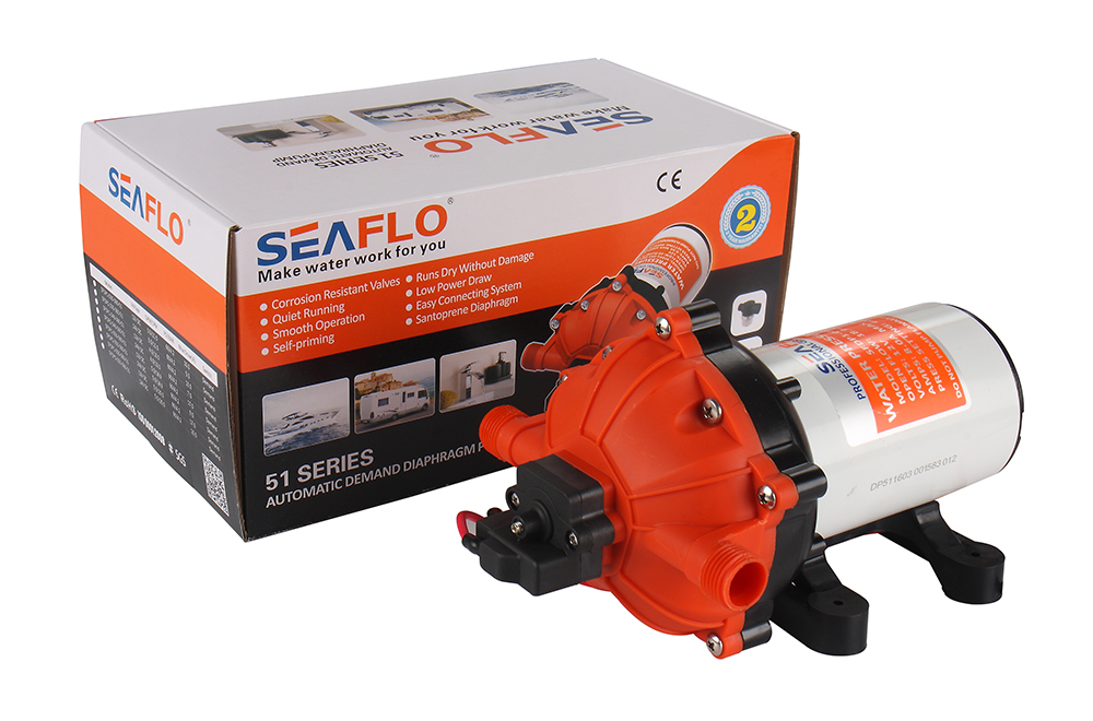 SEAFLO 12V Marine Boats 5.0GPM 60PSI Water Pressure Diaphragm Pump Self Priming 12v 60psi 1 3 gpm diaphragm pump boat rv water pressure self priming pump