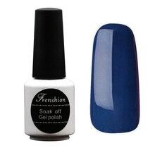 Frenshion 7.3 ML Esmalte Azul de Uñas de Gel UV Gel Arte Fácil de Secar Esmalte de uñas Empapa Del Brillo Vernis Semi Permanente para DIY Nail Art