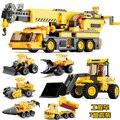 Детские Игрушки автомобилей Building blocks устанавливает Автомобиль игрушки подарки Ко Дню Рождения грузовик Рождественские Детские игрушки Обучающие Инжиниринг Seriess