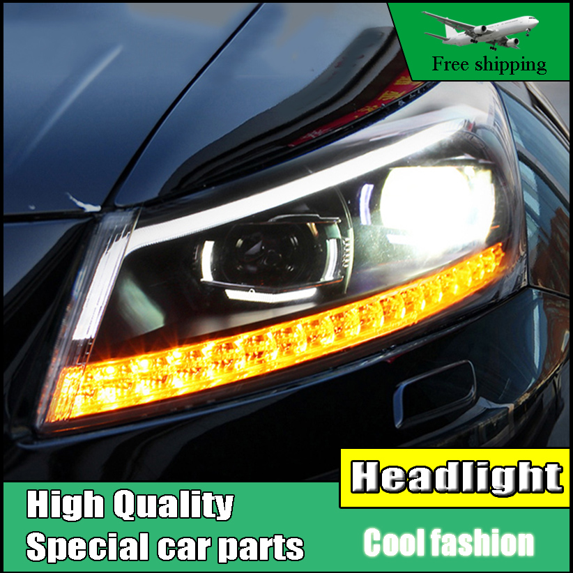 Car Styling Headlight For Honda Accord 8th headlights 2008-2013 moving turn light head lamp LED DRL front light Bi-Xenon Lens geely sc7 sl car front headlight head light transparent cover