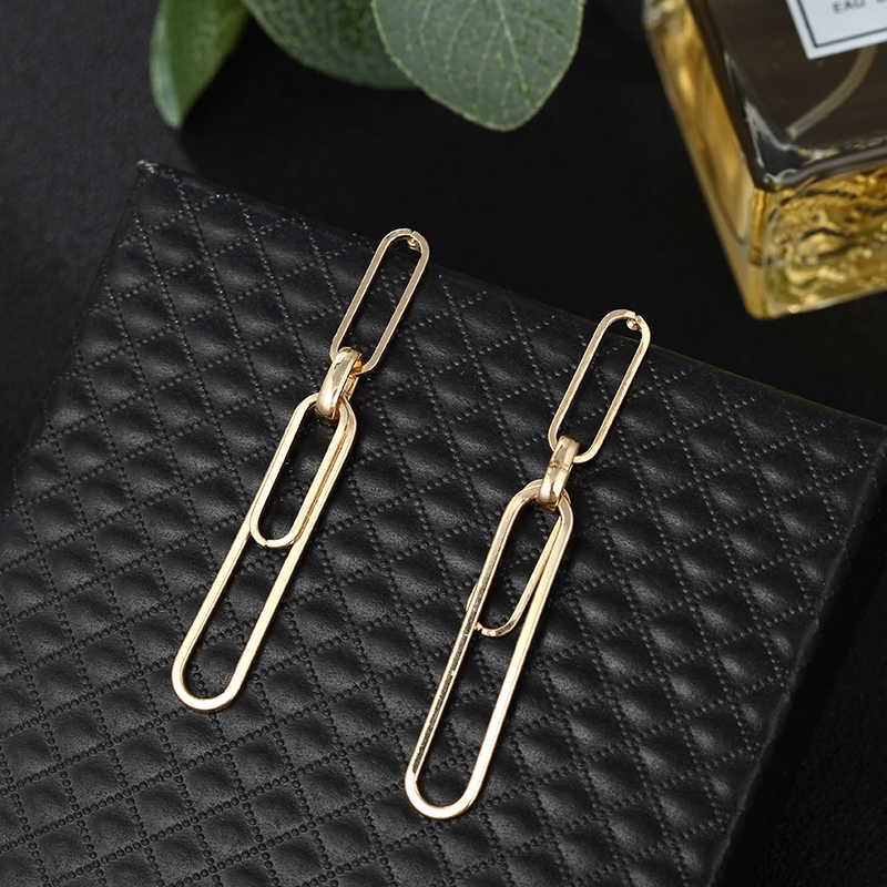 Индийские ювелирные изделия бохо, европейские преувеличенные необычные металлические круглые серьги, серебряные золотые геометрические серьги, богемные трендовые серьги