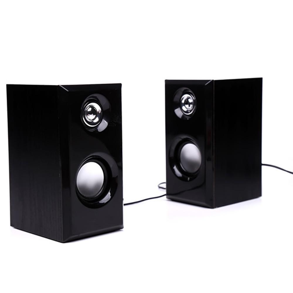 Laptop Speaker Wire : Gosear pcs set wooden portable usb mini wire speaker