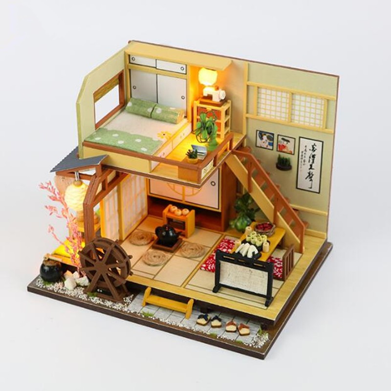 Doll Houses Loyal M034 Japanese-style Diy Dollhouse Miniature House Model Kit Wooden Toy With Furnitures Karuizawas Forest Holiday 100% Original