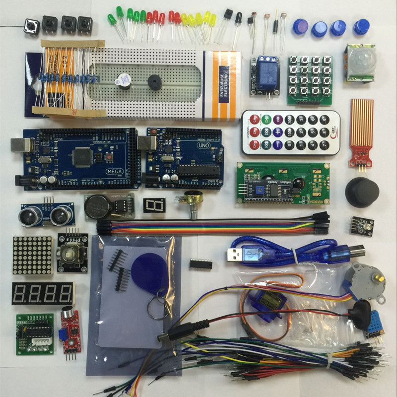 Starter Kit for font b arduino b font uno and mega 2560 lcd1602 hc sr04 HC